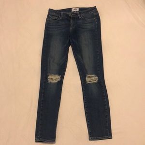 PAIGE Verdugo Ankle Skinny Jeans, Size 27